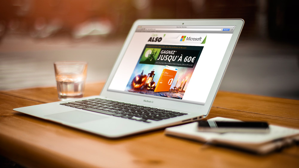 Emailings Halloween mis en situation pour Microsoft